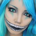 Cheshire grin make-up tutorial