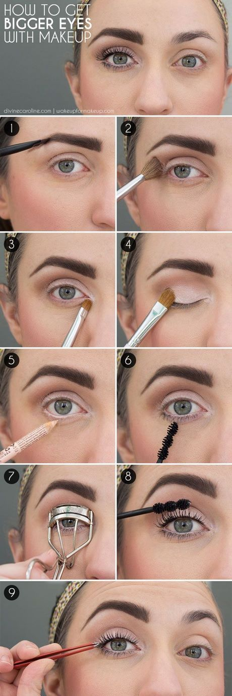 Grote wimper make-up tutorial