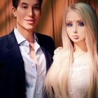 Real life barbie doll Make-up tutorial